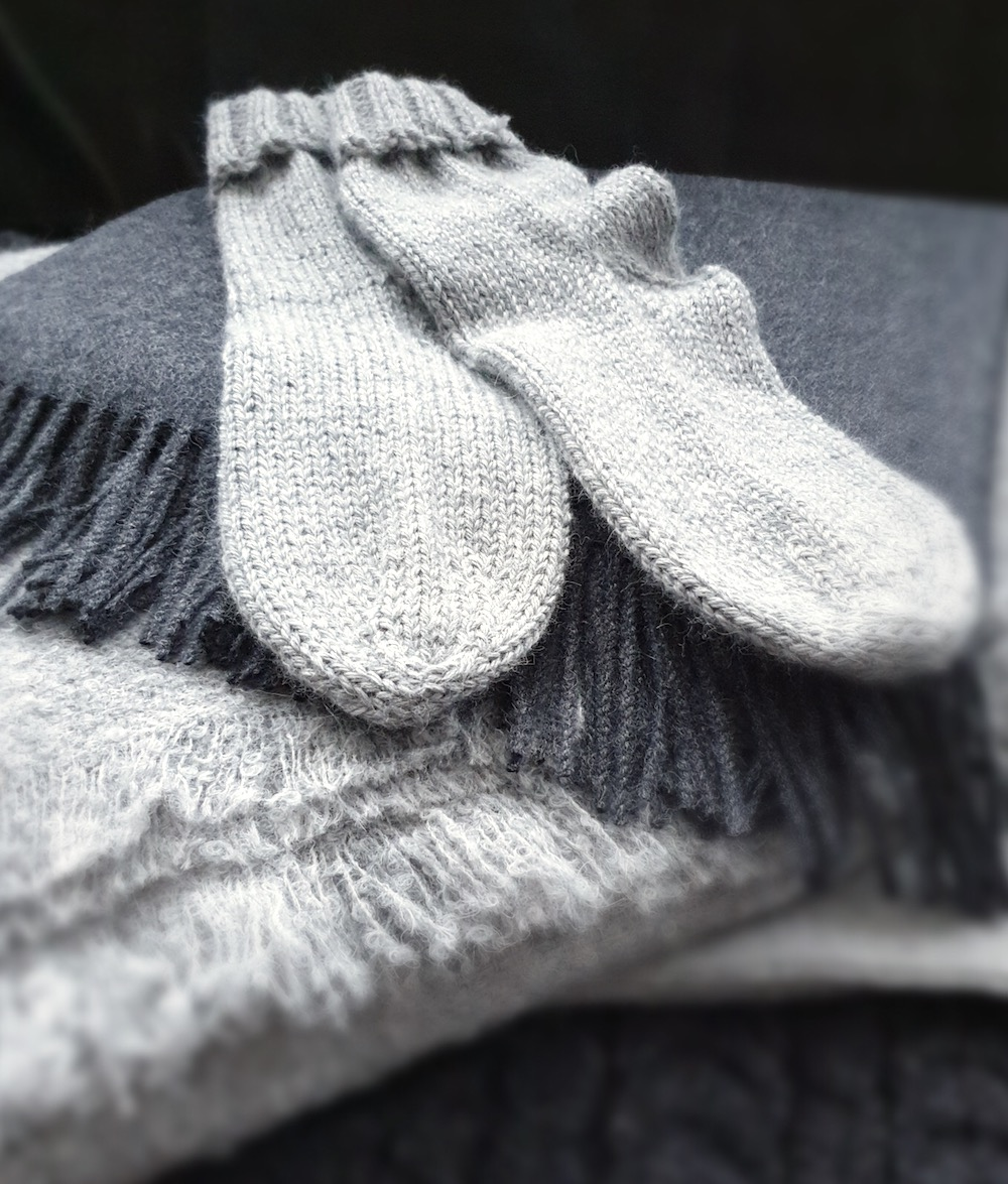 JOGB Grey Style Bed Socks and travel wraps are ridiculously soft