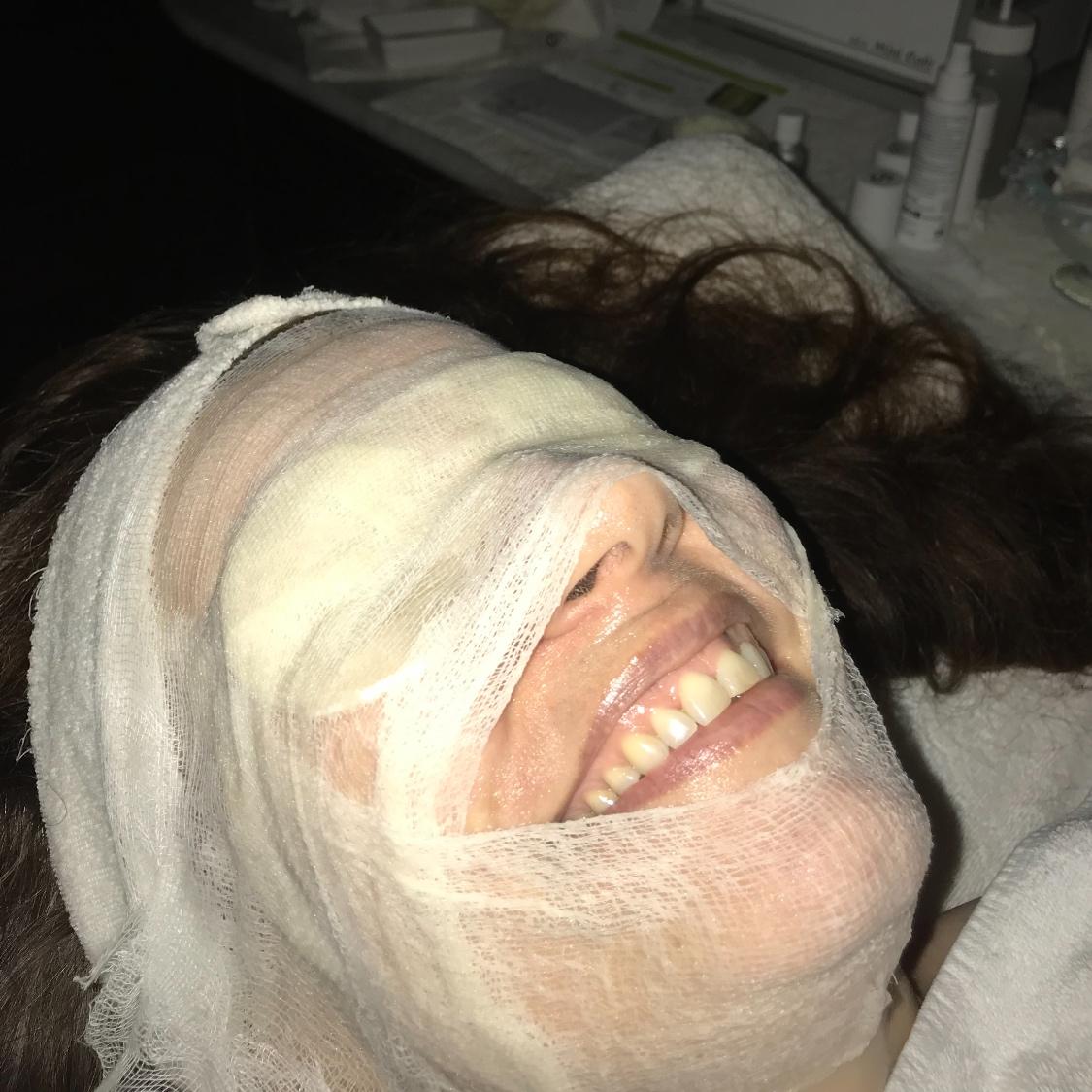 JOGB enjoying Frances Prescott Tri-spritz facial for jogbliving.jpg