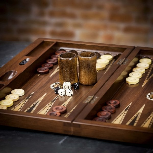 One of my favourite games: check out this handmade Farrar Tanner Backgammon Board
