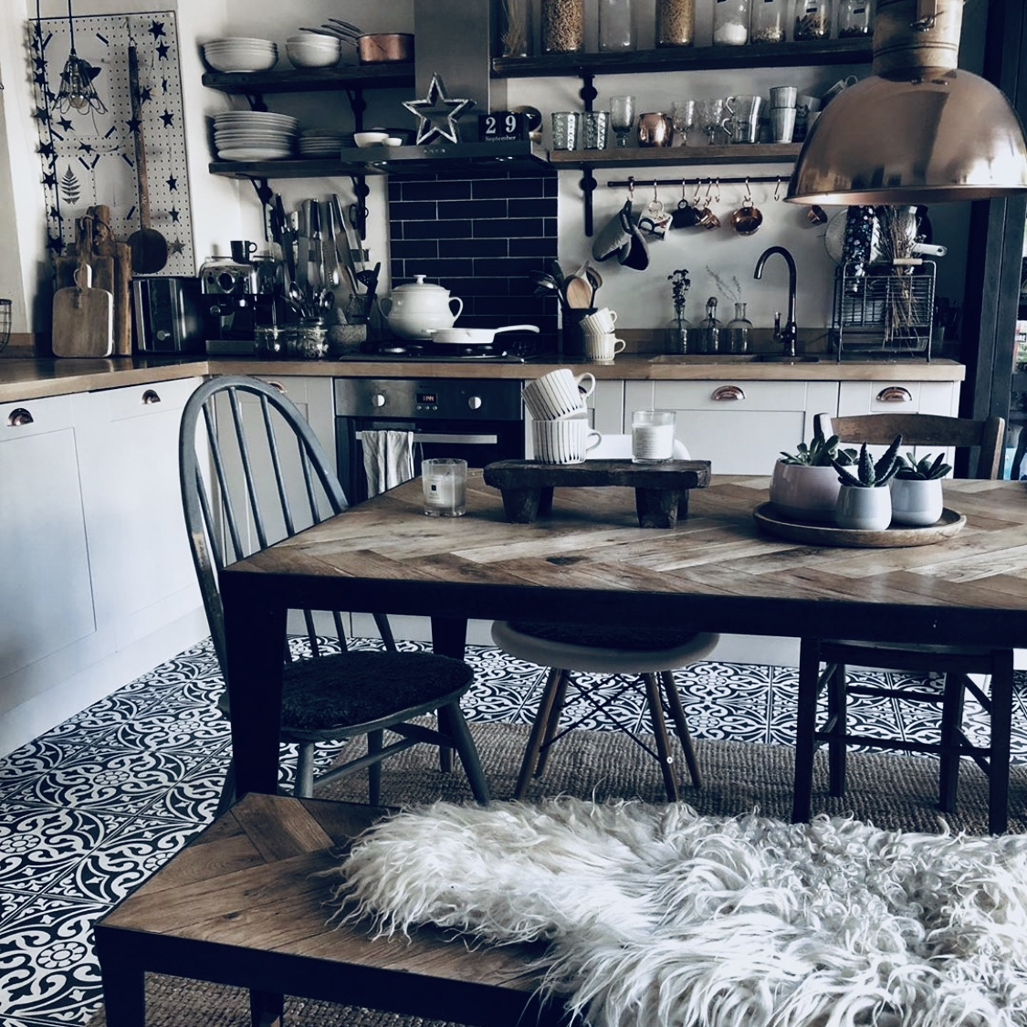 Kitchen inspiration using woods not metal, by Reena @hygge_for_home