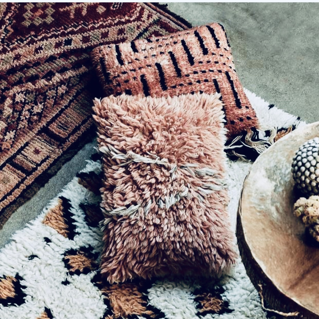 Autumnal Cushion and Rug inspo by Abigail Ahern - do check out her website or pop into her London emporium in Islington