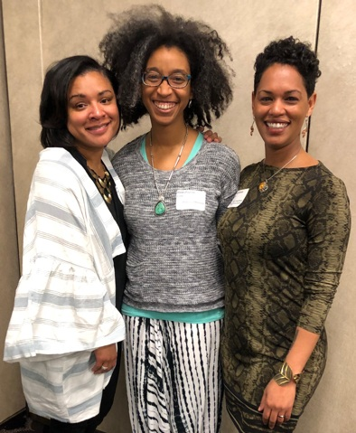 Drs. Shannon J. Miller, Alexis Pauline Gumbs, and Mel Michelle Lewis (left to right) joined the Inter Faculty Organization as keynote speakers .