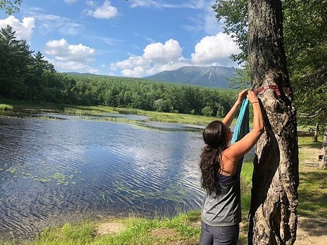 Gear hanger in view of Katahdin! 👇 👇 👇 @thruorfalse 👈 they finished their hike! Follow them and check it out! . . . . .  #getoutside #getoutstayout #exploremore #theglobewanderer #letsgosomewhere #campvibes #optoutside #earthfocus #rei1440project #naturephoto #main_vision #landscape_captures #awesome_earthpix #natureaddict #rsa_rural #awesomeearth #nature_wizards #allnatureshots #instanaturelover #portlandmaine #mainetheway #igersmaine #mainething #mainelife #visitmaine #goprohero #goprophotography #goprouniverse #katahdin