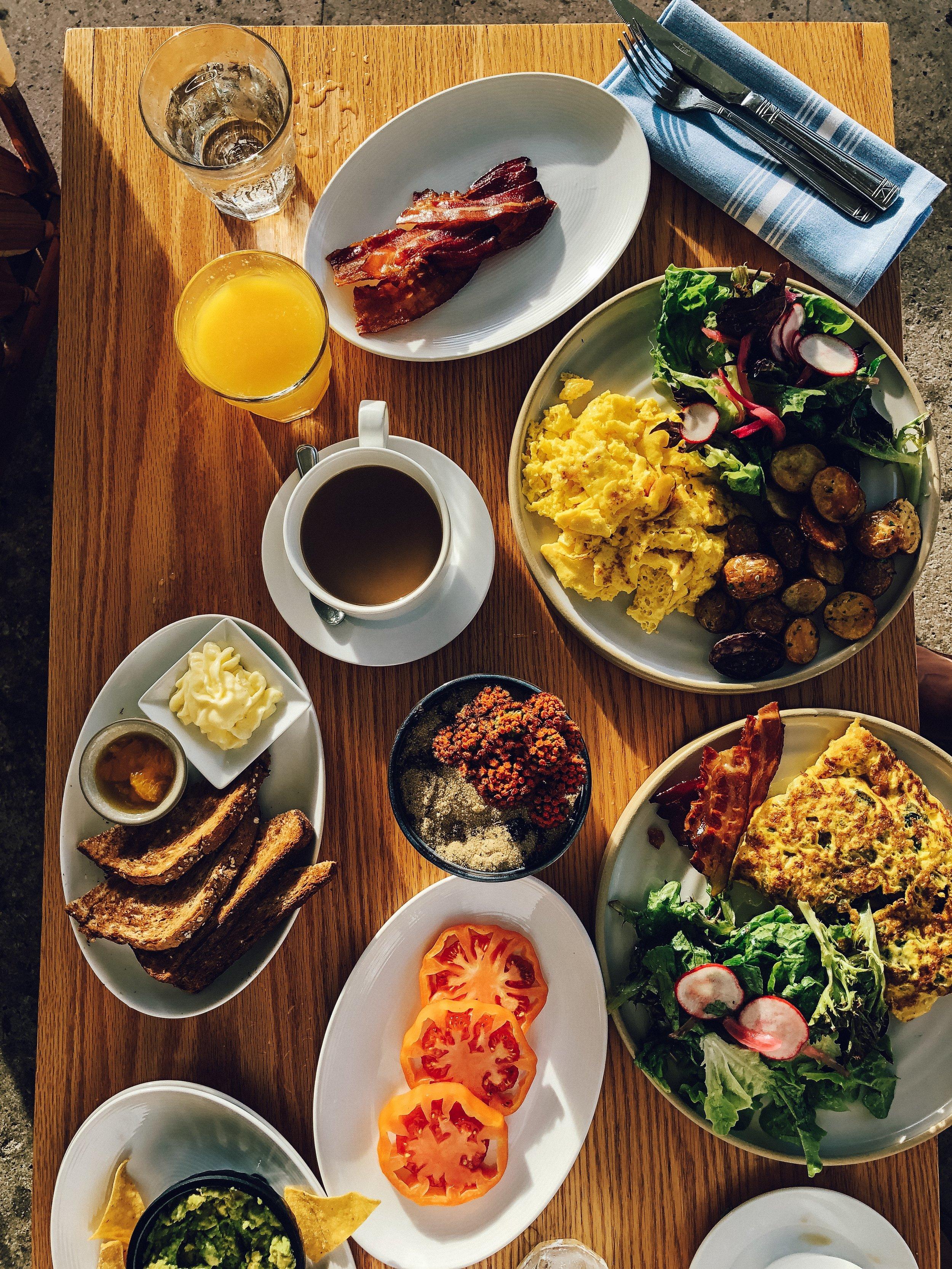 breakfast from Diez y Seis at Shore Club