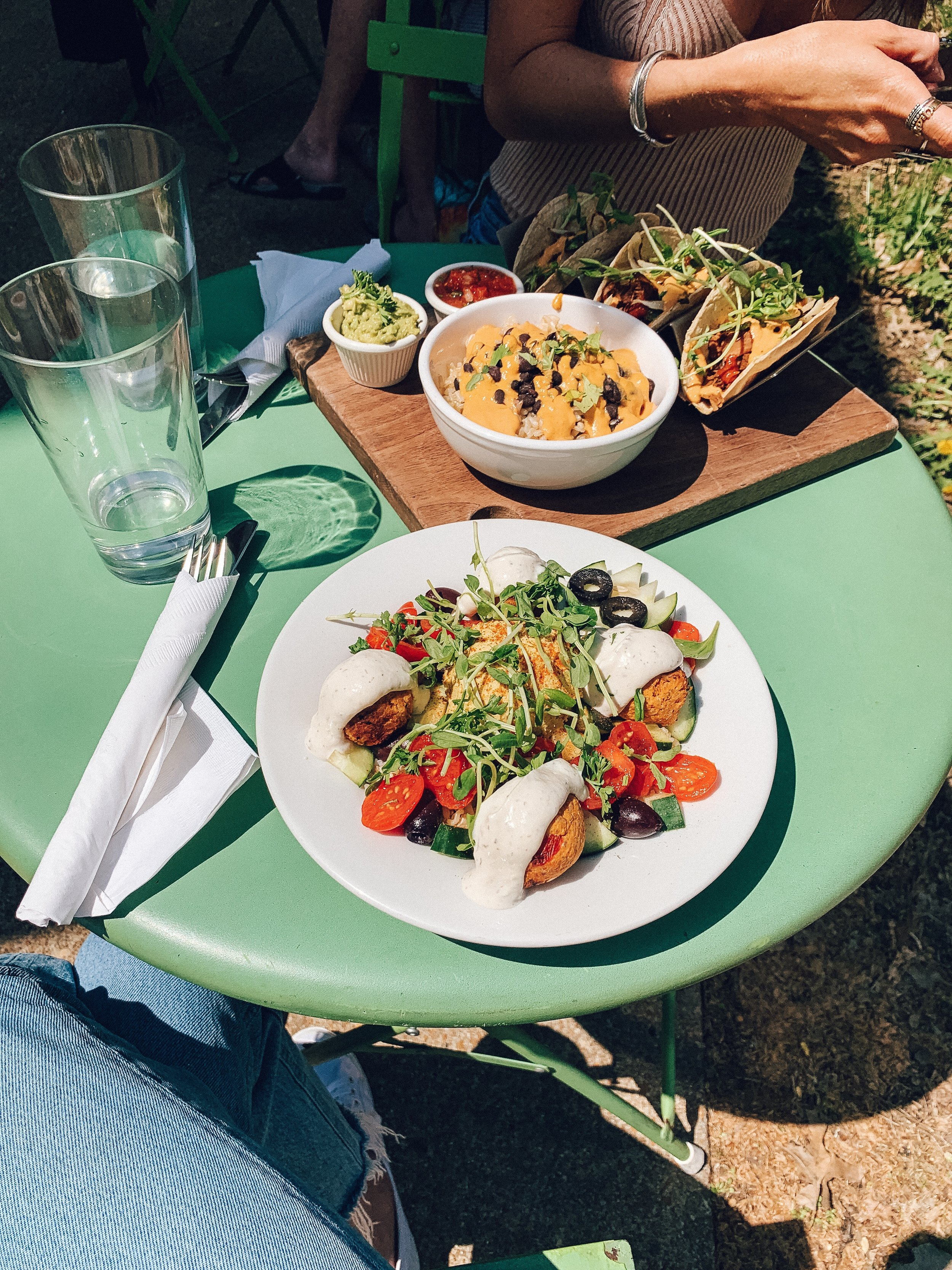 Seedz Cafe - street tacos + half baked falafel bowl