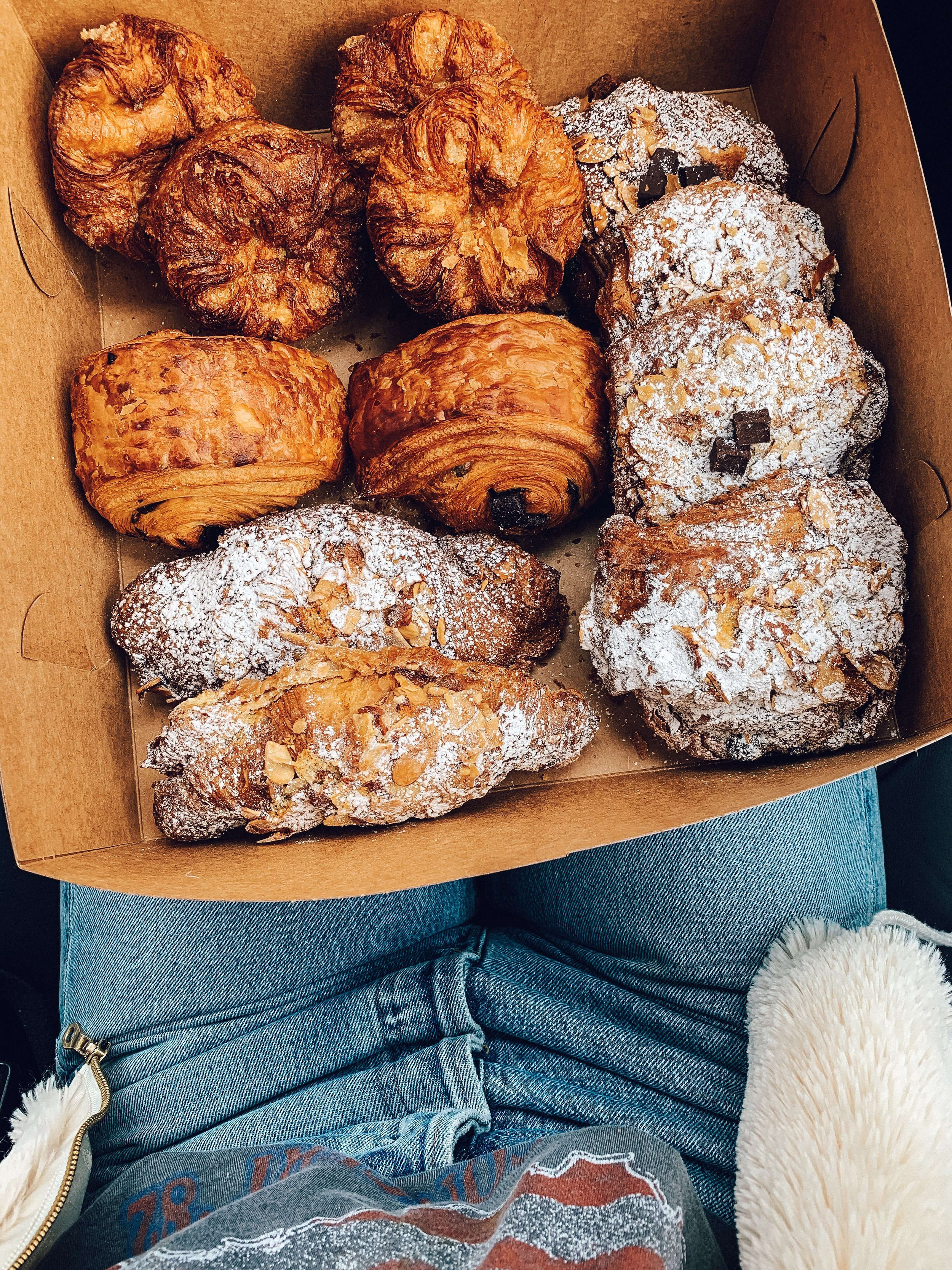 Nathaniel Reid Bakery - kouign-amann (pronounced like queen), chocolate croissants, almond croissants, chocolate almond croissants.