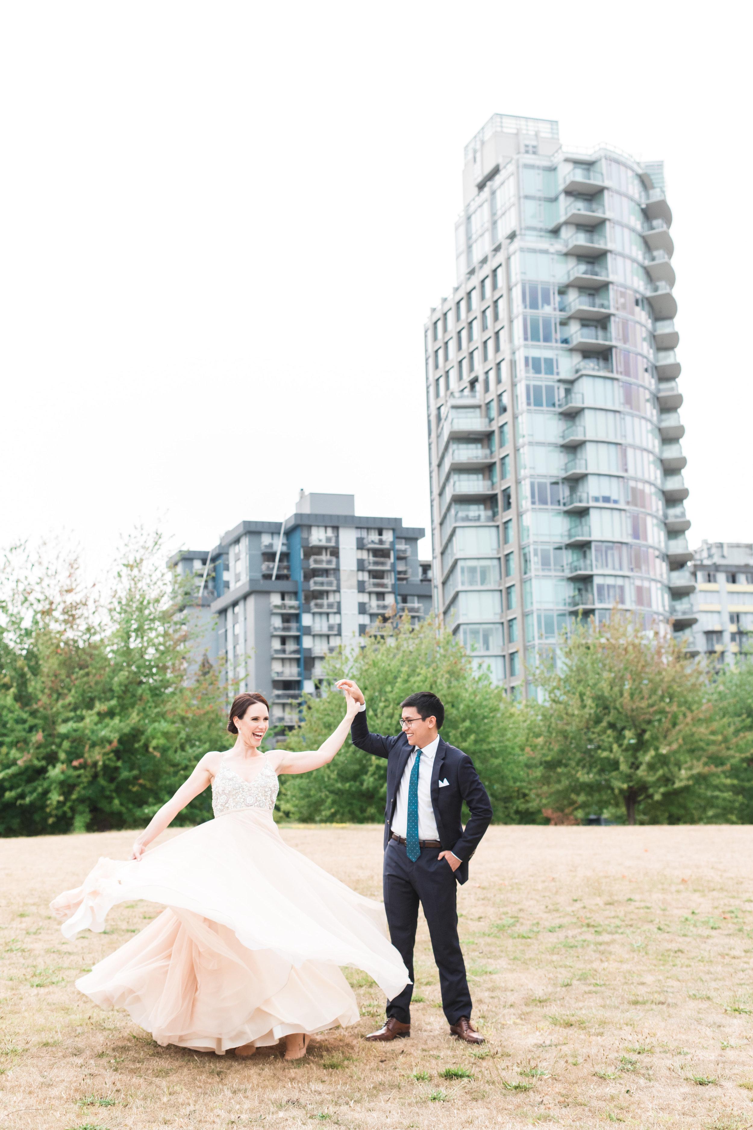 K&M Vancouver Westin Hotel Wedding