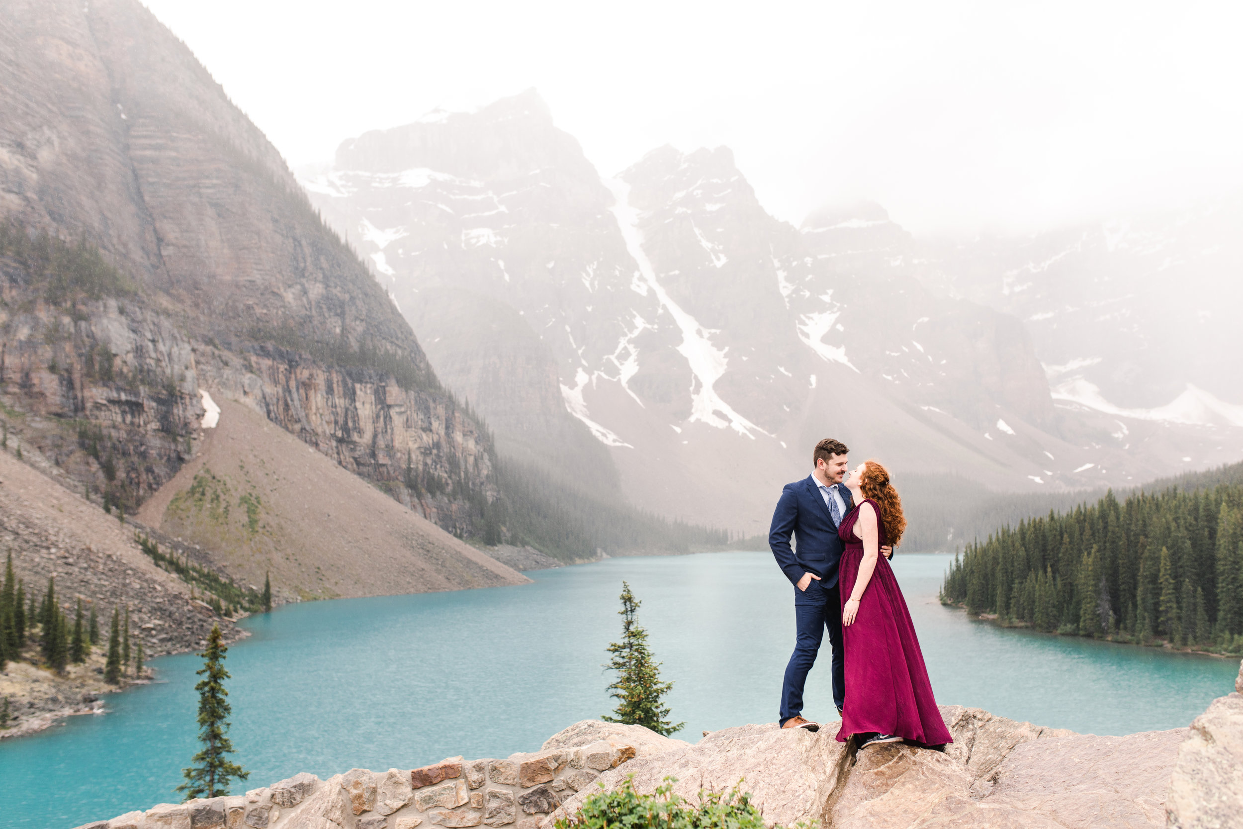 Morraine Lake Alberta Wedding Photographer