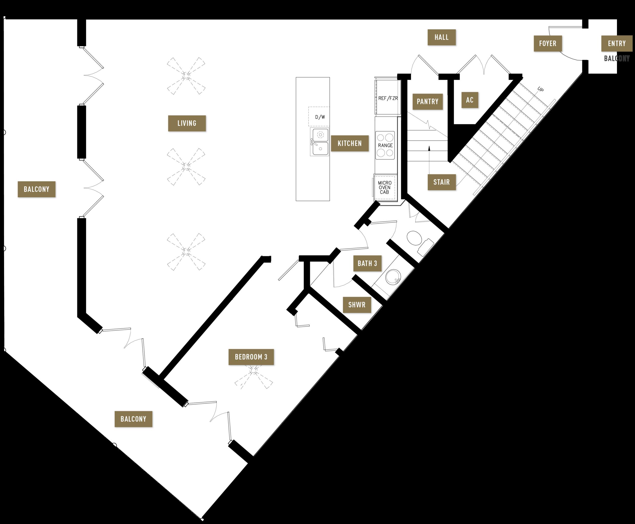 Floor Plan B, 1st Floor