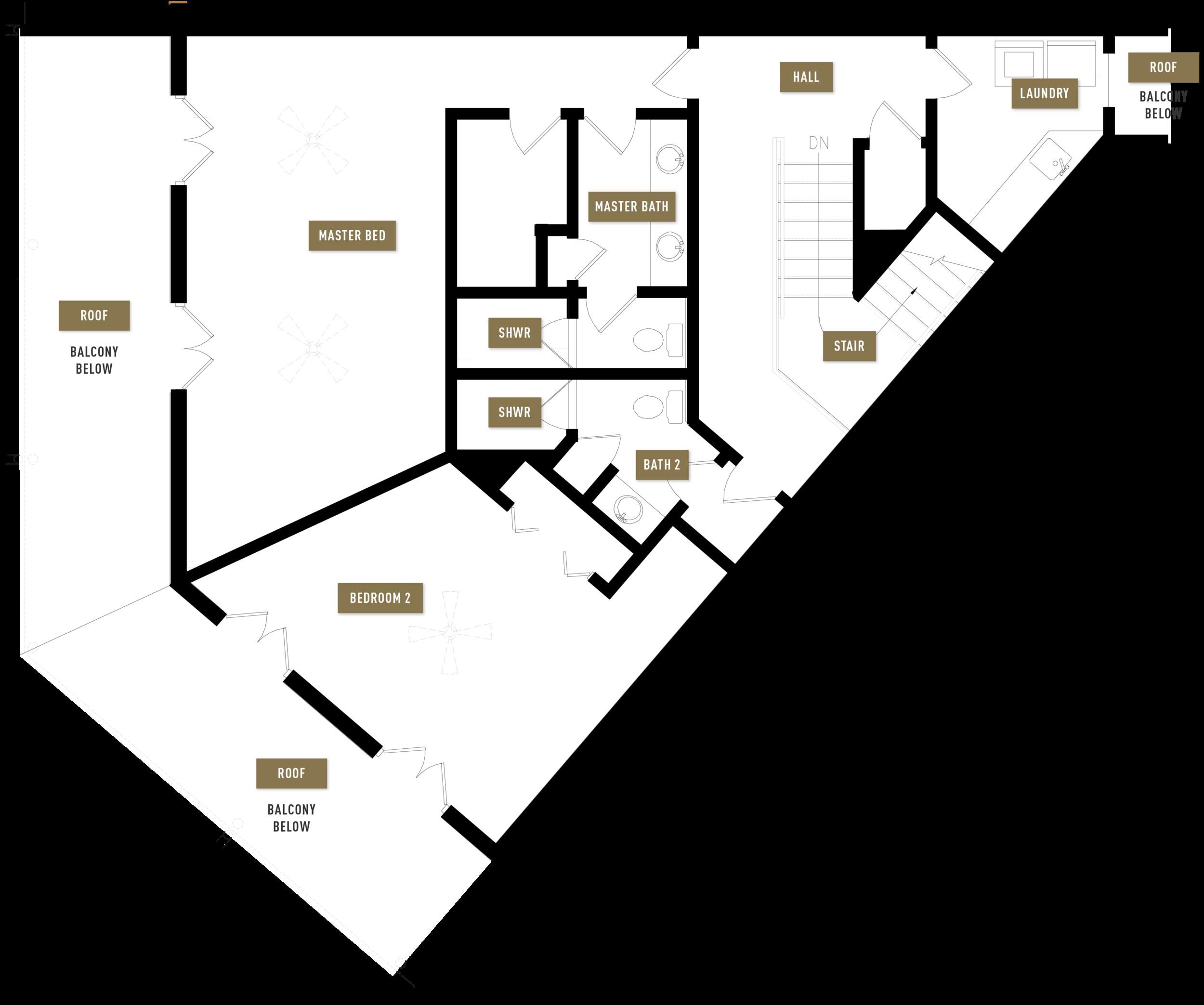 Floor Plan B, 2nd Floor