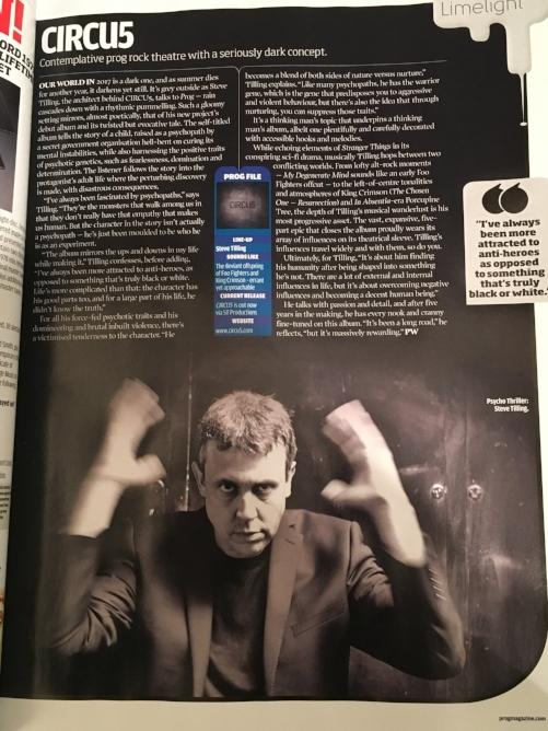 Prog magazine feature