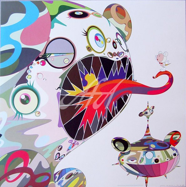 Takashi Murakami - homage to Francis Bacon - Study of George Dryer watermark.jpg