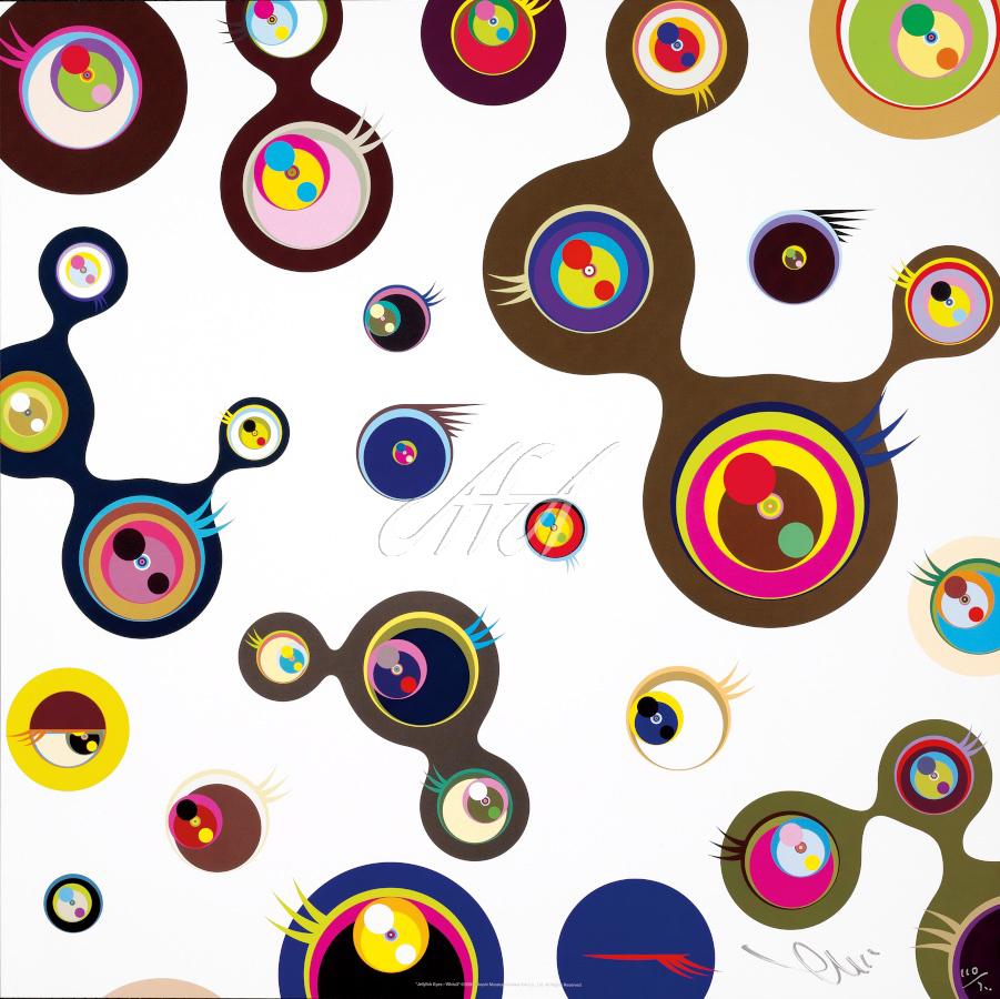 Takashi Murakami - Jellyfish Eyes - White 3 watermark.jpg