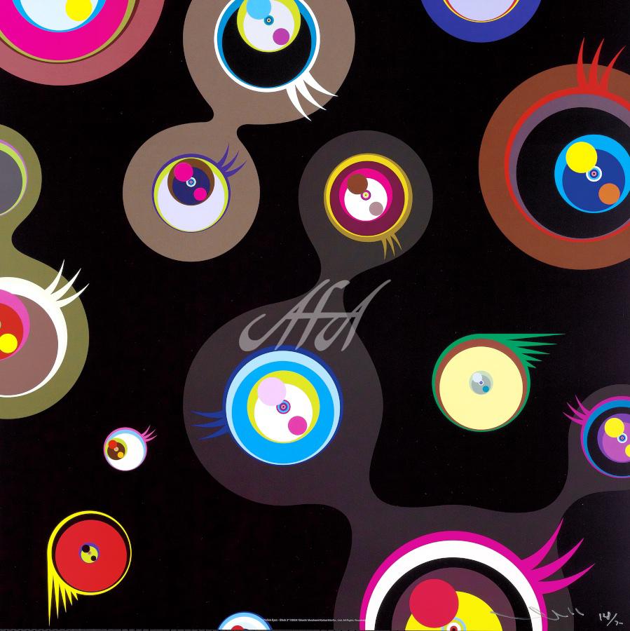 Takashi Murakami - Jellyfish Eyes - Black 2 watermark.jpg