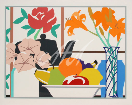 Tom Wesselmann - Still Life with Petunias, Lilies, and Fruit watermark.jpg