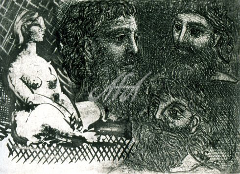 Picasso_Vollard_Nude Woman sitting with three bearded heads watermark.jpg