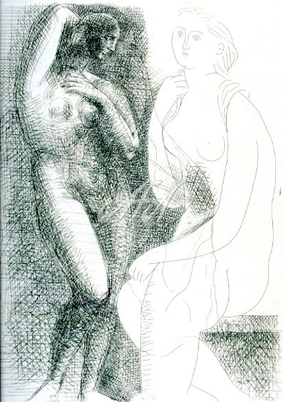 Picasso_Vollard_Woman in front of a Statue watermark.jpg
