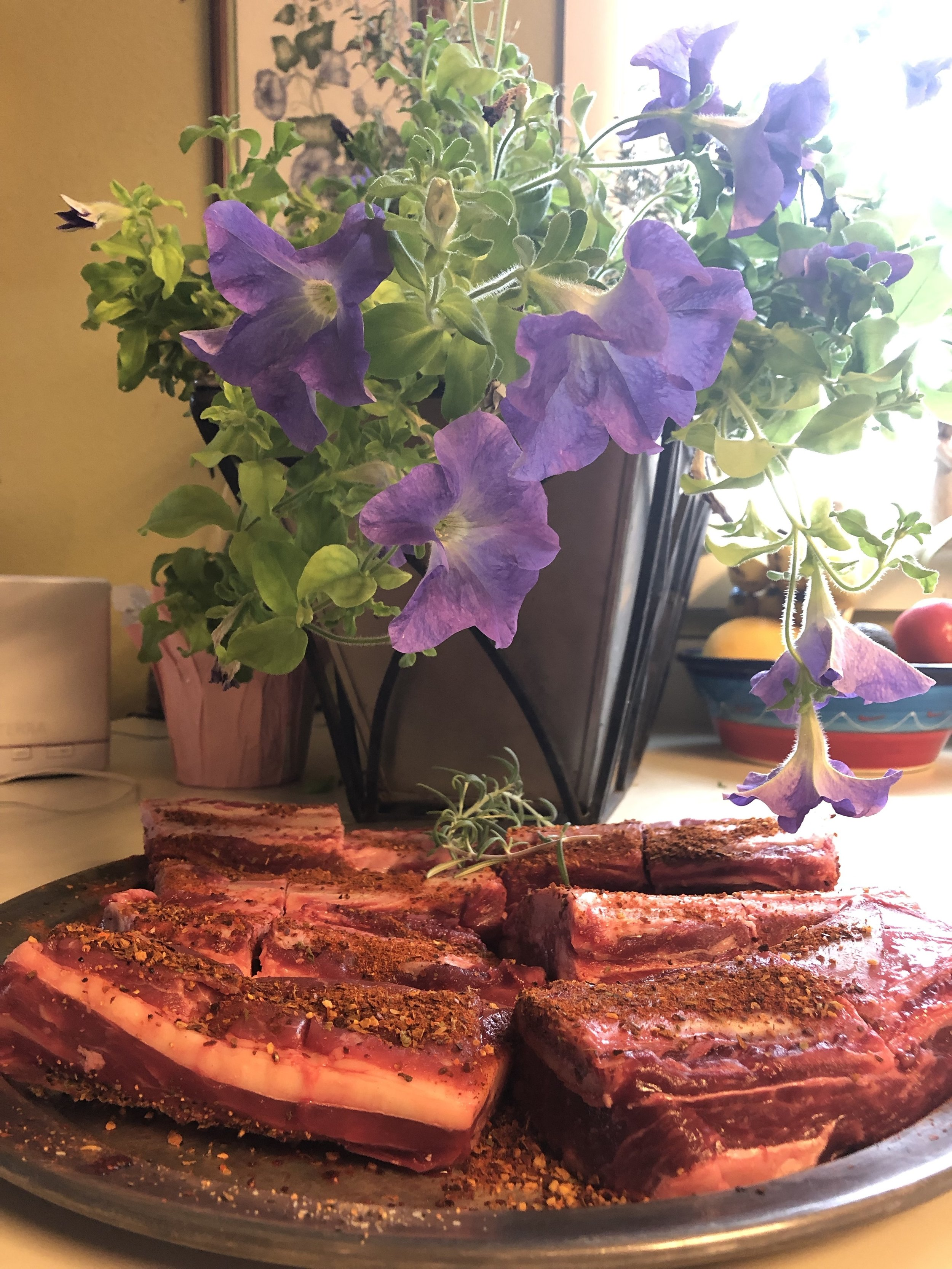 2 Packages of Short Ribs - These meaty ribs come from the rib eye section of the beef and are great for braising or slow cooking.2 ribs per package (1.25-2.5 lbs)