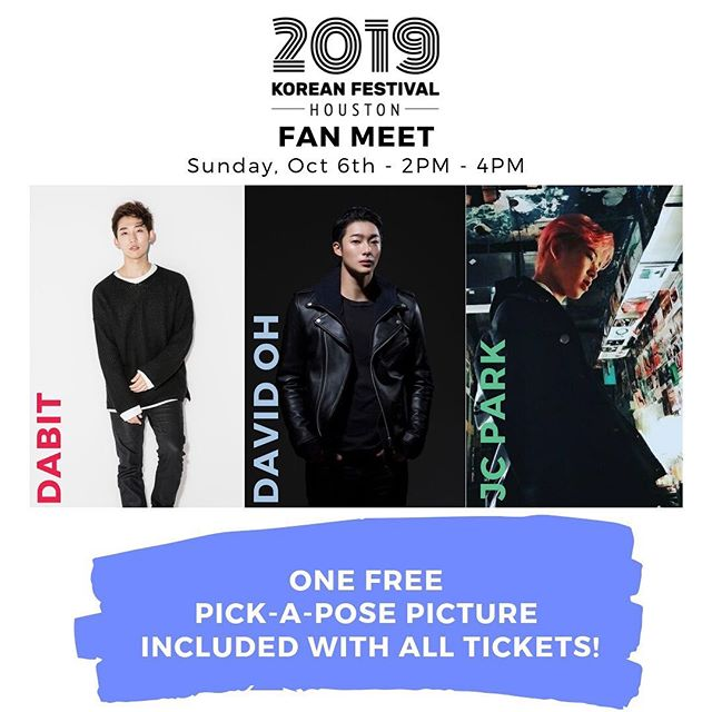🤯IMPORTANT ANNOUNDEMENT!🤯 We're SO EXCITED about the fan meet that we decided to throw in one FREE Pick-A-Pose photo for every ticket package! (Even if you've already purchased your ticket!) Snap a photo with these KPop idols and have a memory that will last forever!  If you haven't gotten your ticket, be sure to grab one before they're gone!  Last year sold out before the event. 😍🤩😎