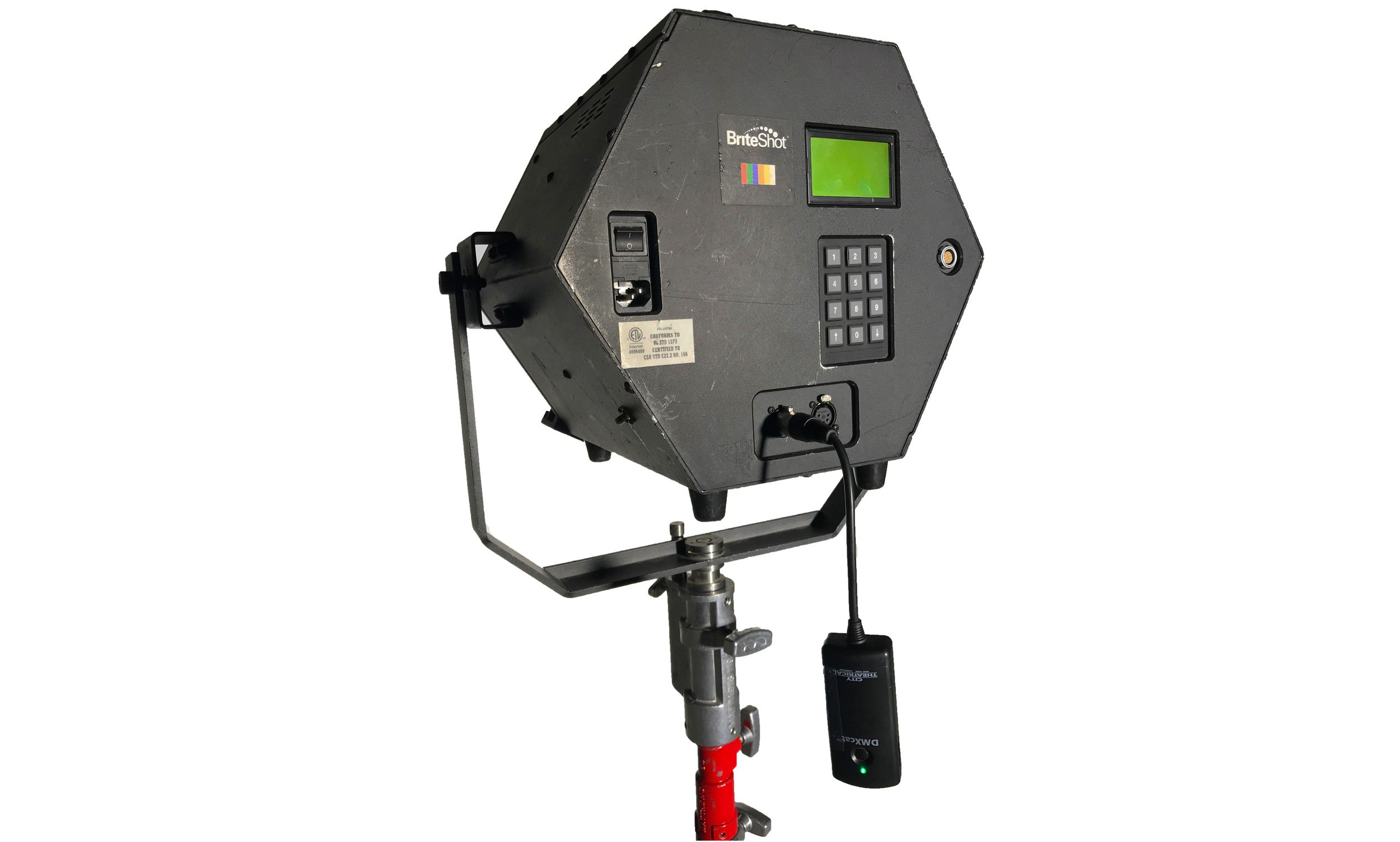 An Innovative Wireless Solution - Free upon request with a Luminator rental, this wireless solution kit uses bluetooth to communicate with your entire lighting rig.