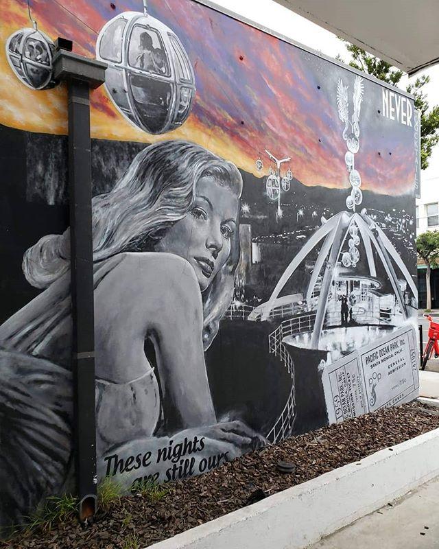 These nights are still ours.💫✨ Dreamy vintage glam art by @never1959 on Main Street in Santa Monica. . . . 🌍 Find it on the map! --  MuralMapLA.com . . #muralmapla #mural #muralart #urbanwalls #urbanart #streetart #artist #art_spotlight #paintthechange #paint #graffiti #streetarteverywhere #streets #losangeles #streetsofla #neighborhood #community #publicspace #publicart #artsforla #beautifyearth #worldtour #artaroundtheworld #publicspace #losangeles #lastreetart #travel #getoutside #wanderlust