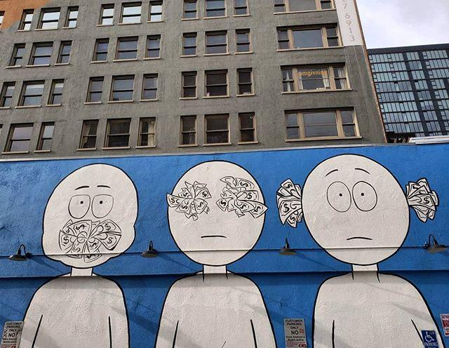 Speak no evil. See no evil. Hear no evil.  Mural by @kaiart on Main Street in Downtown Angeles. . . . 🌍 Find it on the map! --  MuralMapLA.com . . #muralmapla #mural #muralart #urbanwalls #urbanart #streetart #artist #art_spotlight #paintthechange #paint #graffiti #streetarteverywhere #streets #losangeles #streetsofla #neighborhood #community #publicspace #publicart #artsforla #beautifyearth #worldtour #artaroundtheworld #publicspace #losangeles #lastreetart #travel #getoutside #wanderlust