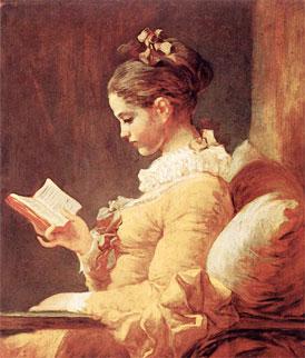 3. A Young Girl Reading, c.1776. Jean-Honore Fragonard.    Art Renewal Centre