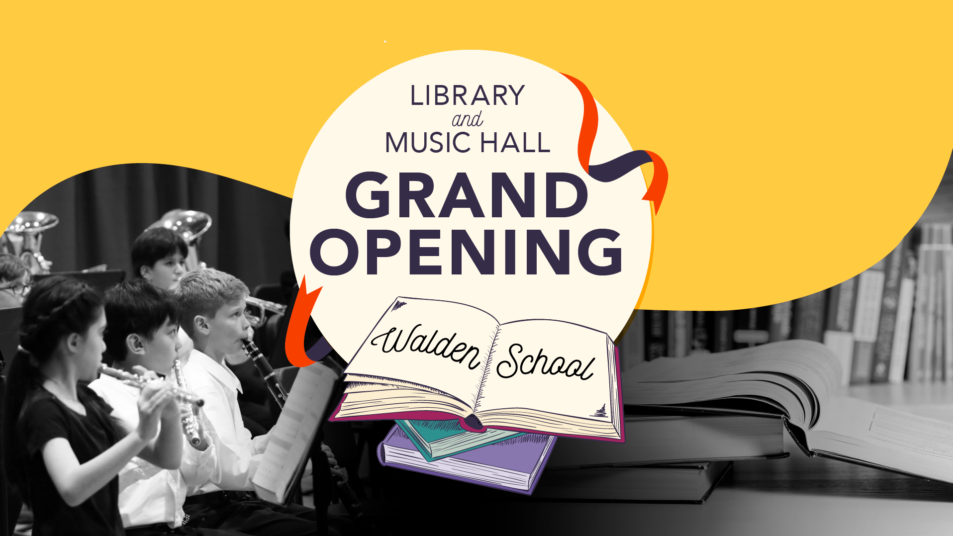 Ribbon Cutting - March 2, 2019! - Open the doors and cut the ribbon! The new library media center and music hall are officially opening on March 2, 2019. Everyone is invited to attend this momentous occasion, celebrating new facilities that expand both the campus and educational opportunities for our students.