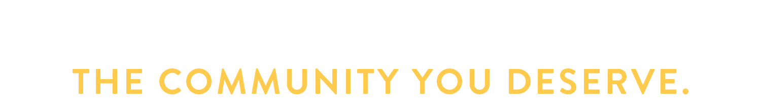 Tagline_community and education_white and gold.png