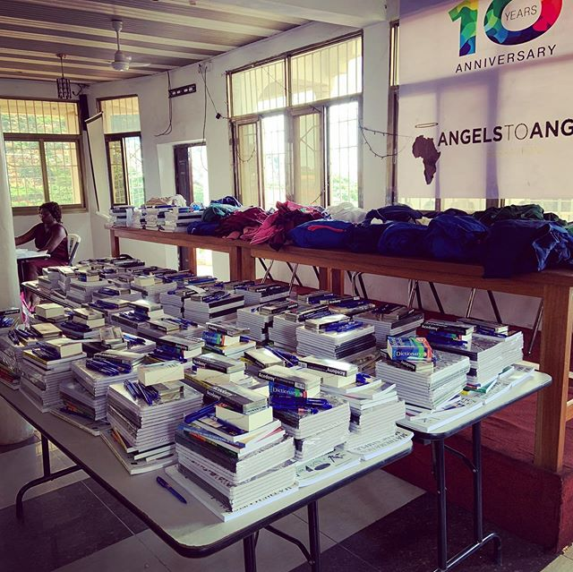 Behind the scenes at our annual Angels to Angels Back to School gathering. After meeting with our leader, Fatu, girls will receive books 📚✔️uniforms 👕✔️and school supplies📓✂️🖍✔️ to kick off the start of the school year 🍎📖 🍏 . Stay tuned for updates on our girls and schools 🏫 across Sierra Leone 🇸🇱! Wishing our girls the very best and brightest 🌟 this Fall 🍁. #educateourgirls #girlseducation #empowerment #knowledgeispower #sierraleone #thefutureisfemale #girlseducationSierraLeone #educationsponsorship #angelstoangelssierraleone
