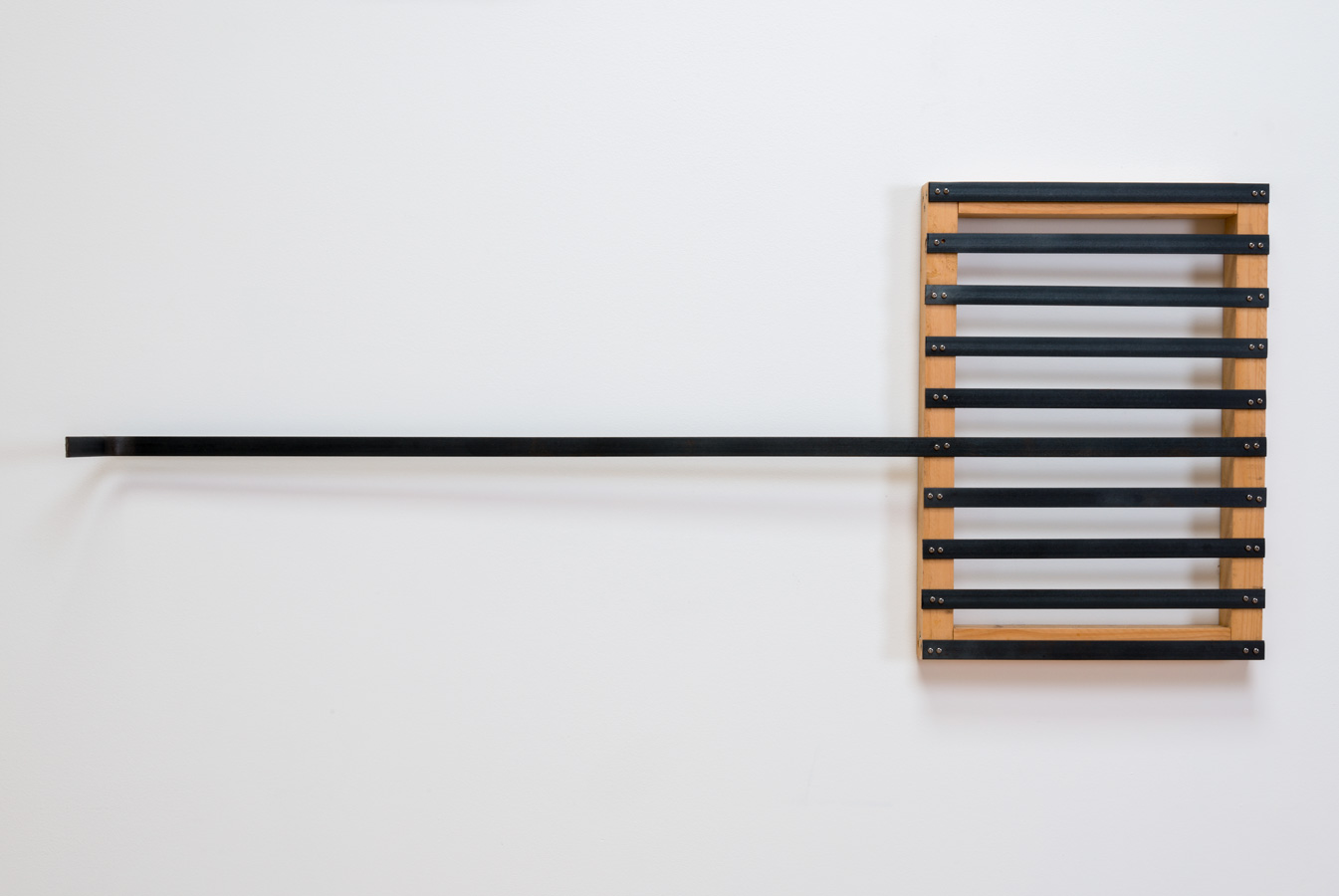 Untitled , 1999 無題 Wood, iron 17 3/4 x 43 3/4 x 1 3/4 inches 45 x 111 x 4.5 centimeters