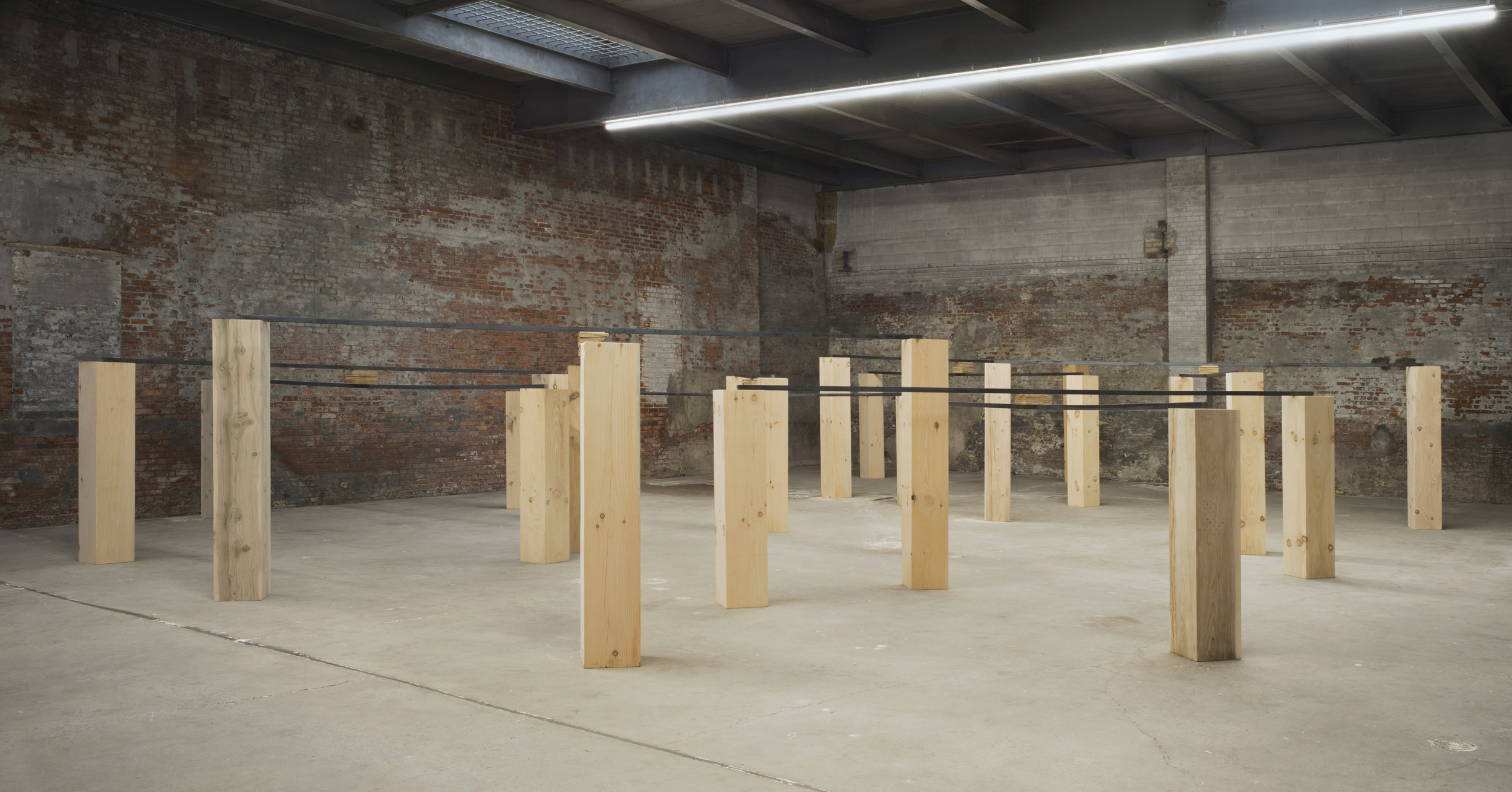 Law of Halted Space , 2016. Installation view at Dia:Chelsea, New York, NY, 2016.  Photo: Bill Jacobson Studio, New York. Courtesy Dia Art Foundation, New York.
