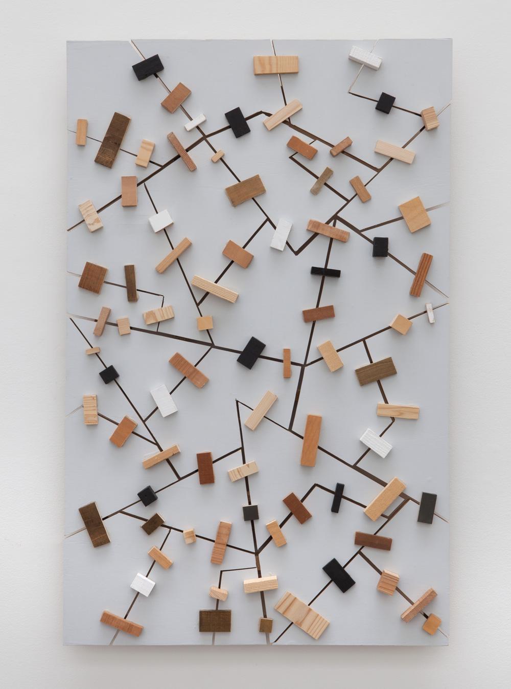 Latent Spatialities , 2016 潜空性 ( Senkūsei ) Wood, paint 49 1/4 x 31 1/2 x 3 3/4 inches 125.1 x 80 x 9.5 centimeters
