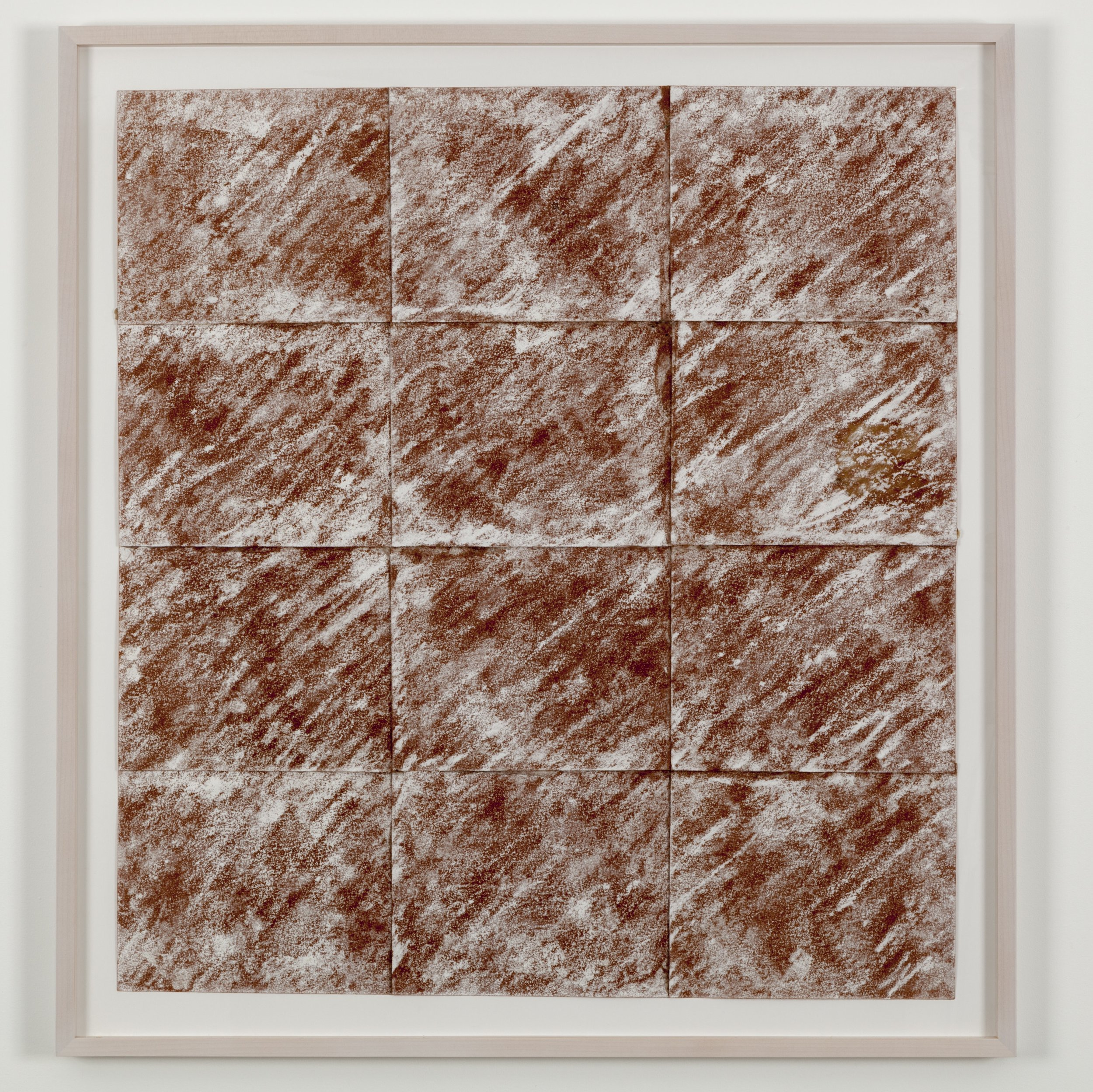 Earth of Boundary , 1972 臨界地 ( Rinkaichi ) Sand paper, chalk 34 7/8 x 31 7/8 inches 88.5 x 81 centimeters