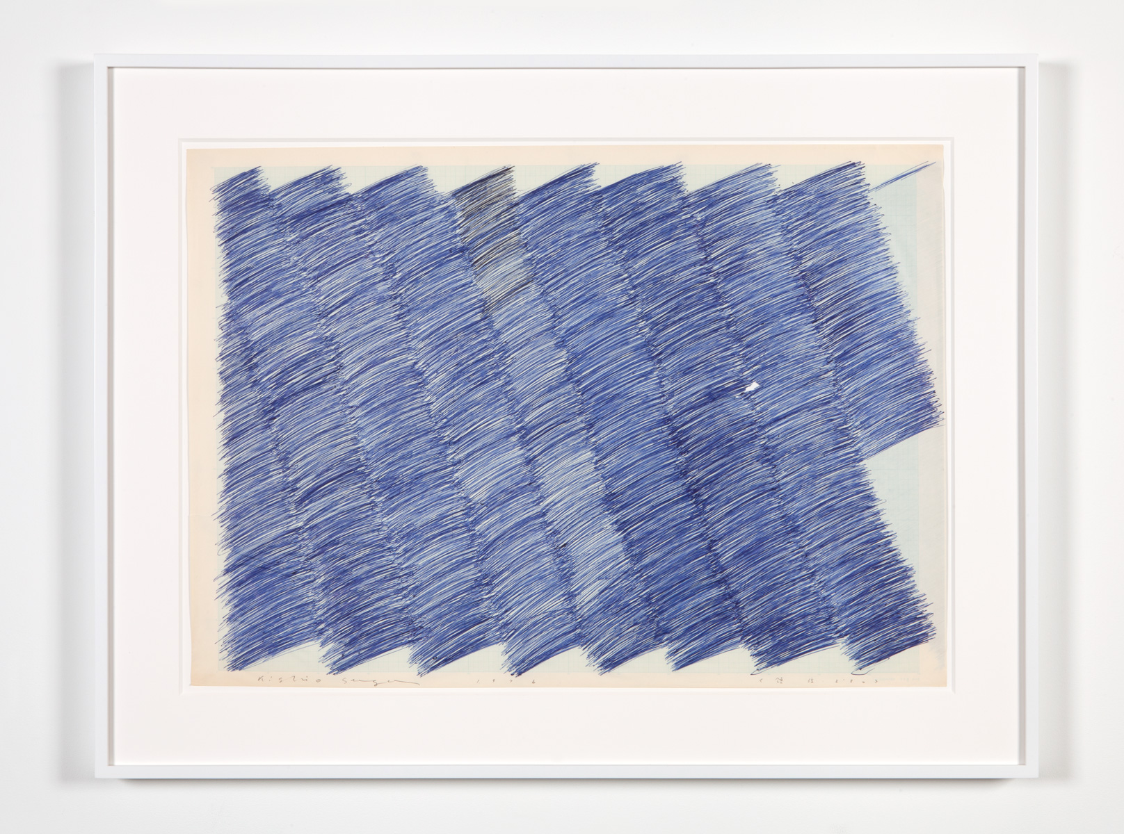 Quantity of Territory , 1976 Ball-point pen on paper 21 1/8 x 29 3/4 inches 53.7 x 75.6 centimeters