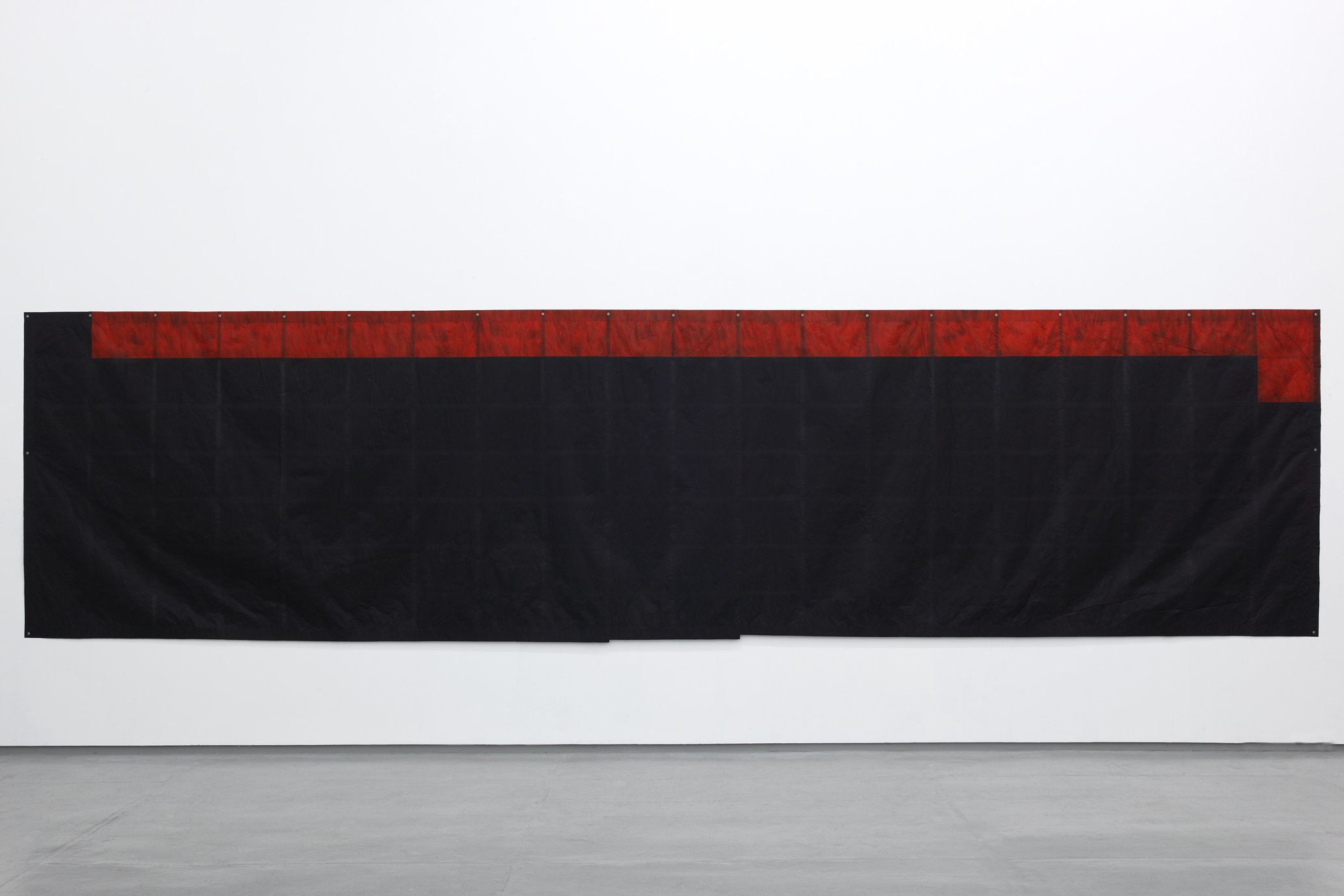 State of Gathering , 1977 集状 ( Shūjō ) Carbon paper 59 x 213 1/2 inches 151.5 x 592.5 cm