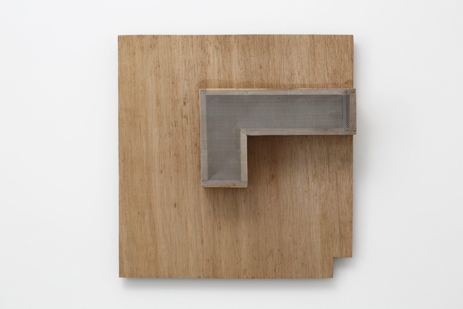 Gathered Fastening—3 , 1987 集留—3 ( Shūryū—3 ) Plywood, wire mesh 20 1/2 x 19 3/4 x 4 3/4 inches  52 x 50 x 12 centimeters