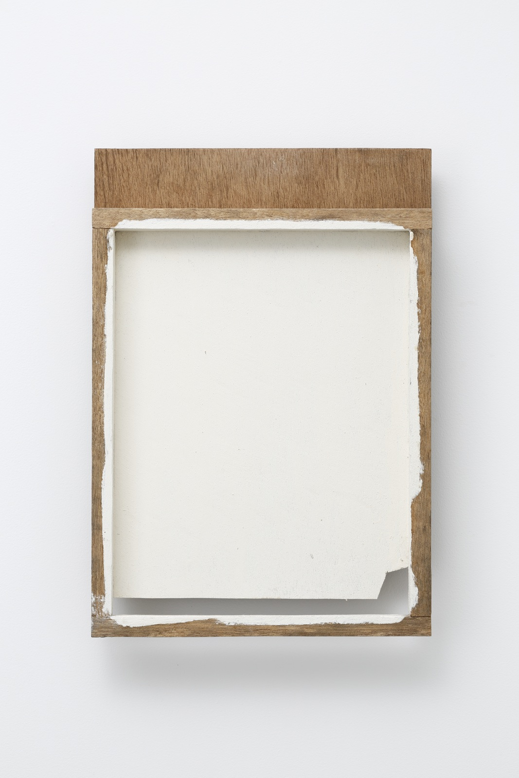 Spatial Component—3 , 1989 間素体—3 ( Kansotai—3 ) Wood, white paint 20 x 13 3/4 x 2 3/4 inches 51 x 35 x 7.2 centimeters