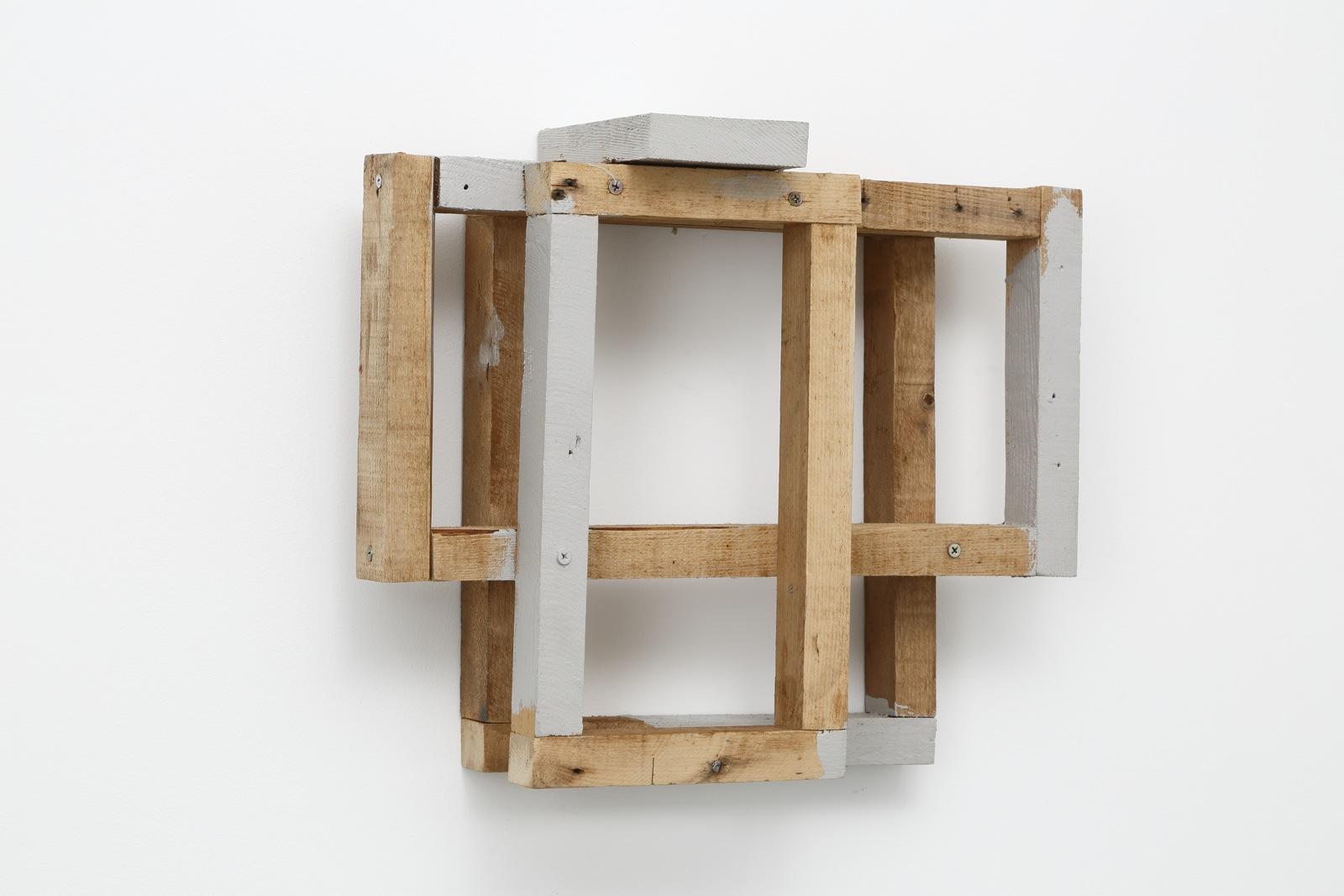 Accumulated Surroundings , 1989 周囲集 ( Shūishū ) Wood, gray paint 15 x 17 15/16 x 5 7/8 inches 38 x 45.5 x 15 centimeters