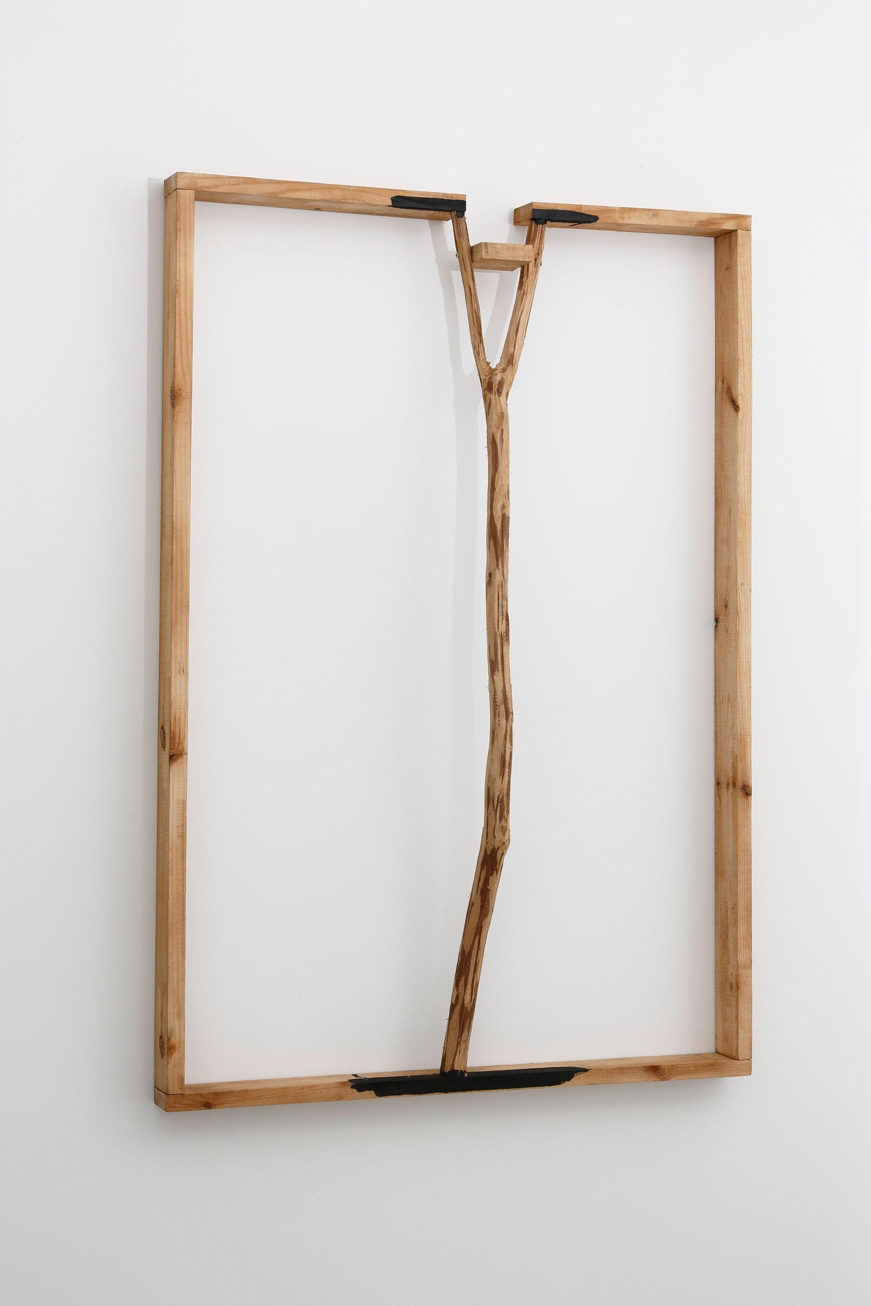 Surrounding Margin, Distanced Body , 1990 周縁距離体(3) [ Shūen Kyori-tai (3) ] Wood, paint 40 7/16 x 25 3/8 x 1 3/4 inches 102.7 x 64.5 x 4.4 centimeters