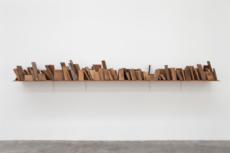 Scenerization , 1975 状景化 ( Jōkeika ) Wood 14 1/8 x 141 3/4 x 11 3/8 inches 36 1/2 x 360 x 29 centimeters