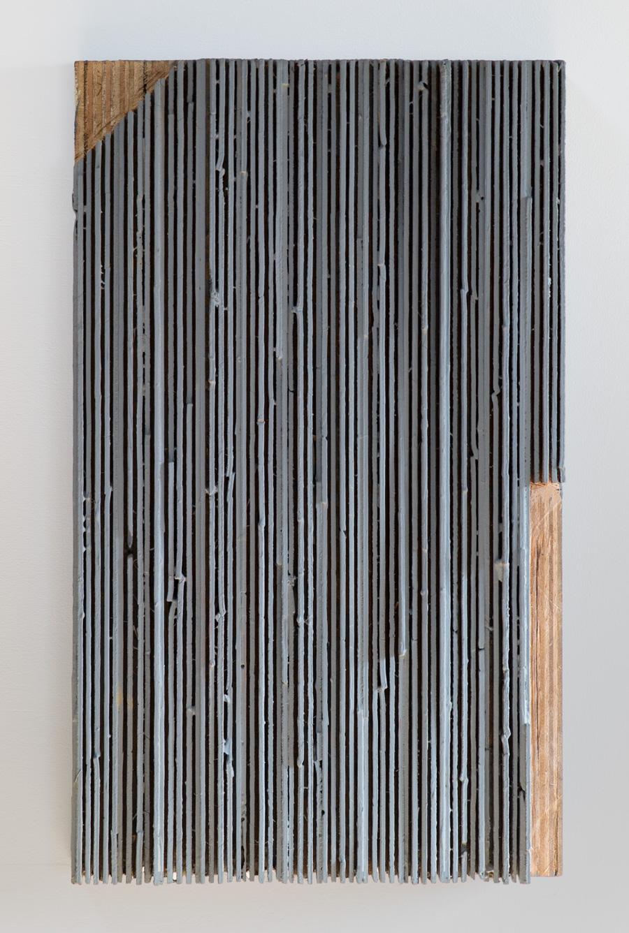 Emergence of a Plain , 1984–1991 平野の成立ち ( Heiya no Naritachi ) Wood, acrylic  23 x 15 3/8 x 3 1/2 inches 66 x 39 x 9 centimeters