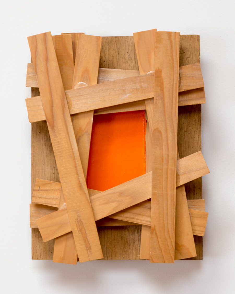 Appearing in Gap , 2008 差合現中 ( Sagō Genchū ) Plywood, wood, paint 10 5/8 x 14 x 3 15/16 inches 27 x 35.5 x 10 centimeters