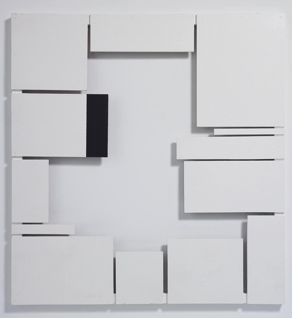 PROTRUSION 88E ,1988  Plywood, lacquer 114.4 x 107.5 x 4.1 cm
