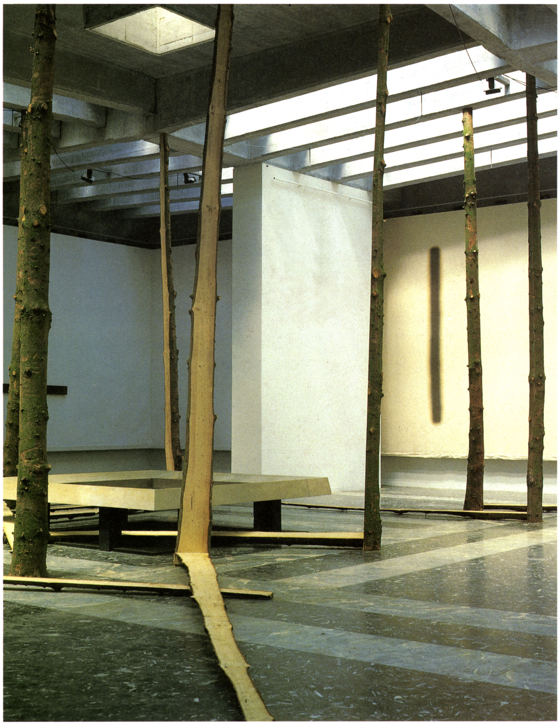 An Aspect as a Whole , 1978 全体の中の一側面 ( Zentai no Ichisokumen ) Wood Dimensions variable Installation view, Japan Pavilion, 38th Venice Biennale, 1978