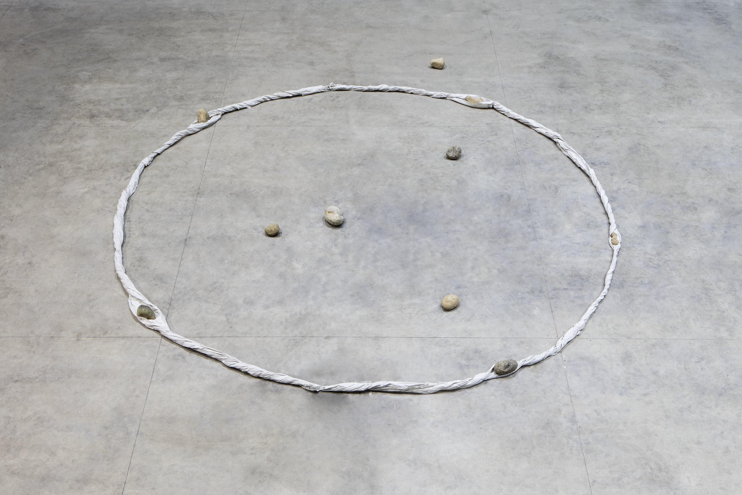 Periphery of Space , 1980/2016 界の側縁 ( Kai no Sokuen ) Dimensions variable Installation view, Kishio Suga: Situations , Pirelli HangarBicocca, Milan, 2016 Photo: Agostino Osio; Courtesy Pirelli HangarBicocca, Milan