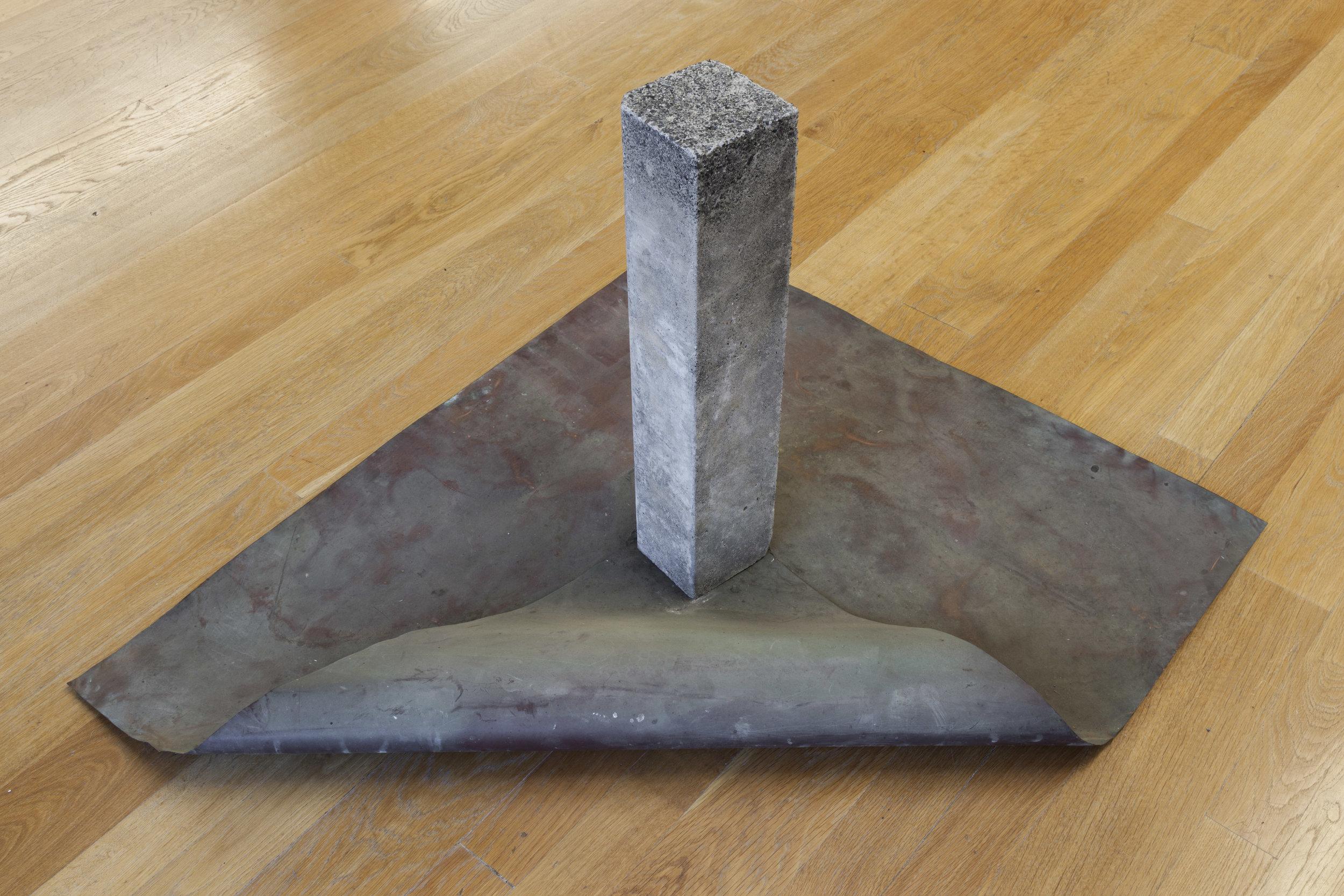 Entirety of Placement , 1975 位置の全体 ( Ichi no Zentai ) Cement block, copper 23 5/8 x 41 3/8 x 35 7/8 inches 60 x 105 x 91 cm