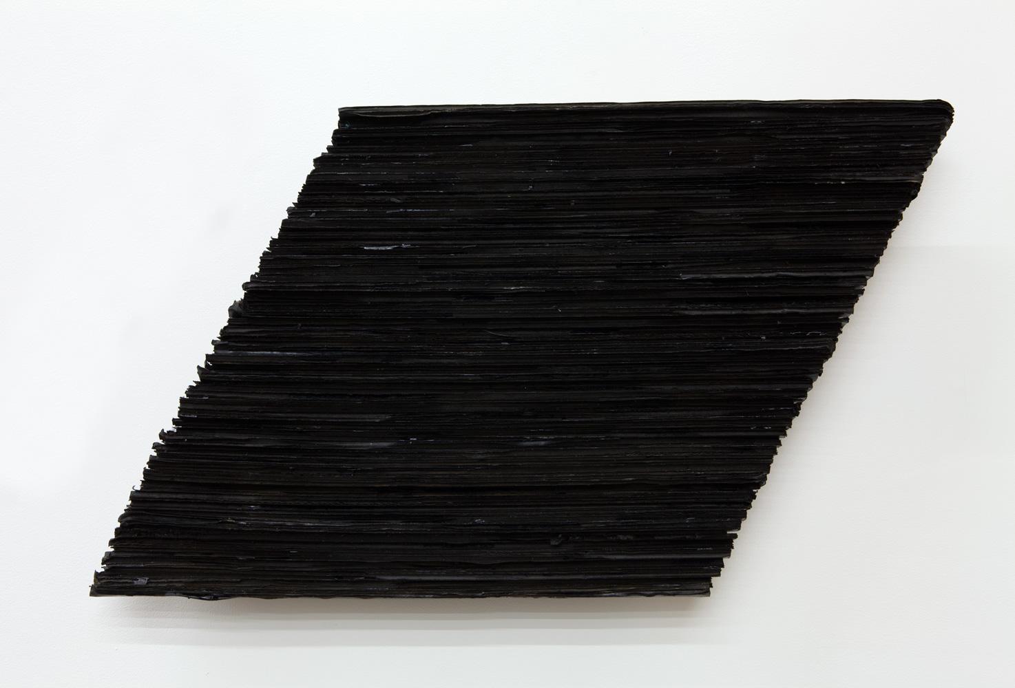 Accumulating Horizon , 1976 地状積 ( Chijōseki ) Cardboard, acrylic 17 3/8 x 30 5/16 x 3 1/2 inches 44 x 77 x 9 cm