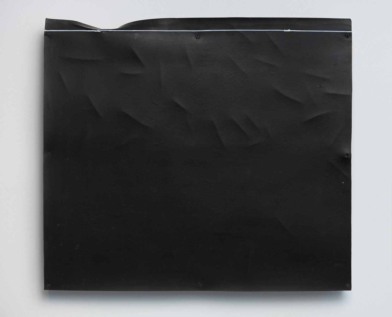 Verge of a Broken Boundary , 1977 端破境 ( tanpakyō ) Rubber, wood, paint, marker ink 17 x 19 5/16 x 1 3/8 inches 43.3 x 49 x 3.5 cm