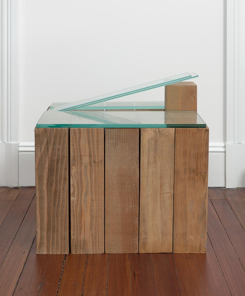 Law of Separate Entities , 1976-2015 分体律 ( Buntairitsu ) Wood, glass 19 blocks;Overall:20 1/4 x 15 3/4 x 20 1/4 inches (51.4 x 40 x 51.4 cm)